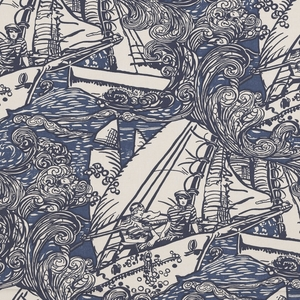 RALPH LAUREN MAIN SAIL NOVELTY FABRIC ULTRAMARINE