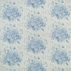 RALPH LAUREN MEETING HOUSE FLORAL FABRIC SKY BLUE