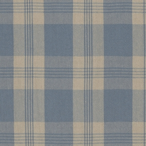 RALPH LAUREN  MILL POND PLAID CHECK FABRIC CHAMBRAY LINEN