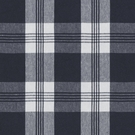 RALPH LAUREN  MILL POND PLAID CHECK FABRIC NAVY WHITE