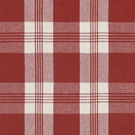 RALPH LAUREN  MILL POND PLAID CHECK FABRIC POPPY CREAM