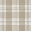 RALPH LAUREN  MILL POND PLAID CHECK FABRIC SAND WHITE