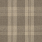 RALPH LAUREN  MILL POND PLAID CHECK FABRIC STONE LINEN