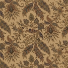 RALPH LAUREN NORTHCLIFFE PAISLEY COTTON PRINT FABRIC KHAKI