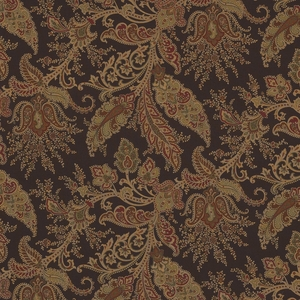 RALPH LAUREN NORTHCLIFFE PAISLEY COTTON PRINT FABRIC PEAT