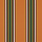 RALPH LAUREN NORTHPORT STRIPE FABRIC TANGERINE