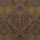 RALPH LAUREN OLD BRAMPTON PAISLEY VELVET FABRIC COPPER