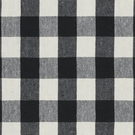 RALPH LAUREN OLD FORGE GINGHAM LINEN FABRIC BLACK CREAM