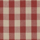 RALPH LAUREN OLD FORGE GINGHAM LINEN FABRIC POPPY