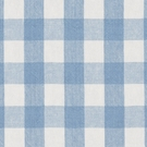 RALPH LAUREN OLD FORGE GINGHAM LINEN FABRIC SKY WHITE