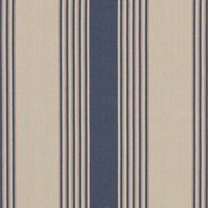 RALPH LAUREN SILVER LAKE STRIPE FABRIC NAVY