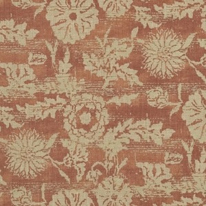 RALPH LAUREN SONORAN LINEN FLORAL FABRIC ADOBE