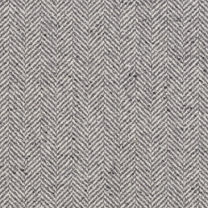 RALPH LAUREN STONELEIGH HERRINGBONE FABRIC GREY FLANNEL