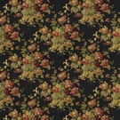 RALPH LAUREN SUSSEX GARDENS COTTON PRINT FABRIC BLACK