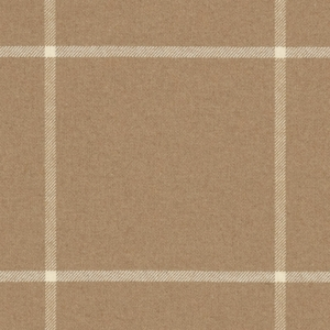 RALPH LAUREN WESTCLIFF TATTERSAL WOOL PLAID FABRIC CAMEL