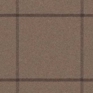 RALPH LAUREN WESTCLIFF TATTERSAL WOOL PLAID FABRIC CHESTNUT