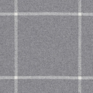 RALPH LAUREN  WESTCLIFF TATTERSAL WOOL PLAID FABRIC  GREY
