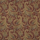RALPH LAUREN WHITTINGTON PAISLEY VELVET FABRIC VERMILLION