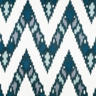 ROBERT ALLEN BAHADUR FLAMESTICH LINEN EMBROIDERED FABRIC BATIK BLUE
