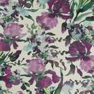 ROBERT ALLEN TWIN WATERS WATERCOLOR FLORAL COTTON LINEN PRINT FABRIC BEET