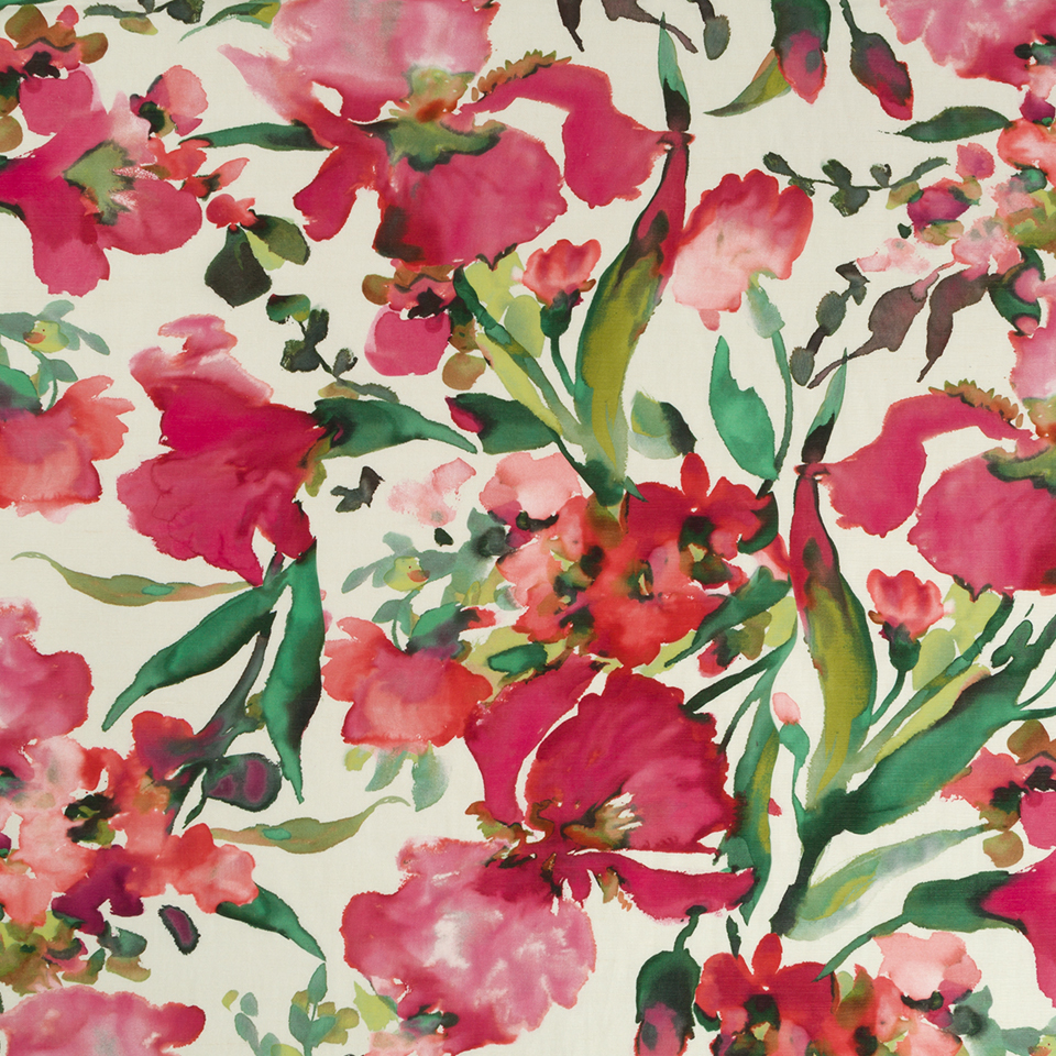 Robert Allen Twin Waters Watercolor Floral Cotton Linen