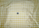 SAMPLE BARANZELLI SCALAMANDRE LUCIA FRENCH COUNTRY SILK CHECK FABRIC YELLOW WHITE