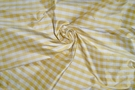 SAMPLE BARANZELLI SCALAMANDRE LUCIA FRENCH COUNTRY SILK CHECK FABRIC YELLOW WHITE 30 YARD BOLT