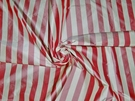 SAMPLE BARANZELLI SCALAMANDRE PENELOPE STRIPES SILK TAFFETA FABRIC ROSE CREAM