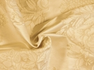 SAMPLE BEACON HILL AMAZON FLOWER SILK JACQUARD EMBROIDERED FABRIC IVORY