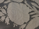 SAMPLE BEACON HILL AMAZON FLOWER SILK JACQUARD EMBROIDERED FABRIC PLATINUM