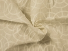 SAMPLE BEACON HILL CROSBY ICONIC EMBROIDERED GEOMETRIC LINEN FABRIC IVORY