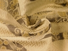 SAMPLE BEACON HILL EQUUS ANIMALE SILK FABRIC SILVER GOLD
