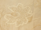 SAMPLE BEACON HILL FLEUR RAFFIA FLORAL EMBROIDERED LINEN FABRIC FROST
