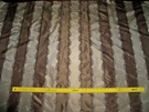 SAMPLE BEACON HILL IRIDESCENT LISERE STRIPES SILK TAFFETA FABRIC 10 YARDS
