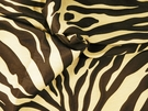SAMPLE BEACON HILL KAWA ZEBRA JACQUARD SILK FABRIC BLACK