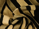 SAMPLE BEACON HILL KENYA STRIPE ANIMAL EMBROIDERED LINEN FABRIC EBONY