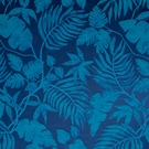 SAMPLE BEACON HILL POSITANO PALM SILK JACQUARD EMBROIDERED FABRIC NAVY