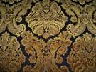 SAMPLE BRUNSCHWIG & FILS KINGS SQUIRE FABRIC 10 YARDS ANTIQUE GOLD BLACK