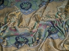 SAMPLE CLARENCE HOUSE DRAGON EMPRESS FABRIC BLUE GREEN