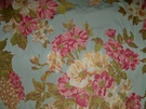 SAMPLE DESIGNER FRENCH COUNTRY FLORAL BOUQUETS WOVEN DAMASK FABRIC 10 YARDS