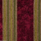 SAMPLE DESIGNER ITALIAN WINDSOR STRIPE CHENILLE FABRIC BURGUNDY TAN CITRUS