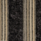 SAMPLE DESIGNER ITALIAN WINDSOR STRIPE CHENILLE FABRIC CHARCOAL BEIGE