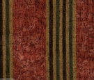 SAMPLE DESIGNER ITALIAN WINDSOR STRIPE CHENILLE FABRIC CRIMSON GREEN AMBER
