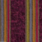 SAMPLE DESIGNER ITALIAN WINDSOR STRIPE CHENILLE FABRIC EGGPLANT BLUE TANGERINE