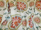 SAMPLE DESIGNER MEDINA EMBROIDERED SUZANI MEDALLION FABRIC ROSE