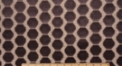 SAMPLE DESIGNER OCTAGON CUT VELVET FABRIC GRAPHITE