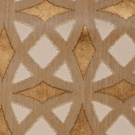 SAMPLE DESIGNER  CORDOVA  RETRO GEOMETRIC CUT VELVET UPHOLSTERY FABRIC GOLD SAND ALMOND