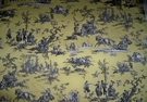 SAMPLE DESIGNER ROMANTIC FRAGONARD TOILE DE JOUY COTTON FABRIC 10 YARDS