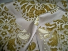 SAMPLE DESIGNER TAPESTRIA ROYALTY MEDALLIONS SILK CUT VELVET BROCADE FABRIC 10 YARDS