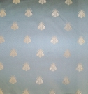 SAMPLE ELEGANT NEOCLASSICAL BEE DAMASK FABRIC FRENCH BLUE